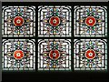 SJ8498 : Stained Glass, Denton Magistrates' Courtroom (GMP Museum) by David Dixon