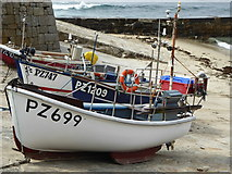 SW3526 : Fishing boats in Sennen Cove harbour by Rod Allday