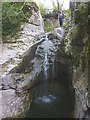 SD7386 : The waterfall at Hell's Cauldron, River Dee, Dentdale by Karl and Ali