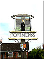 TM4394 : Toft Monks Village sign by Adrian Cable