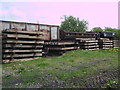 SU1091 : Disused rolling stock and railway sleepers near South Meadow Lane by Vieve Forward