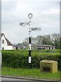 SK7234 : Fingerpost, Main Street/Cropwell Road, Langar by Alan Murray-Rust