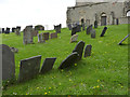 SK6933 : Group of 18th and early 19th century gravestones, St Mary's old church yard, Colston Bassett by Alan Murray-Rust