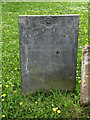 SK6933 : Slate gravestone, St Mary's old church yard, Colston Bassett by Alan Murray-Rust