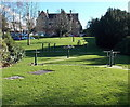 SO2814 : Exercise equipment in the grounds of  Nevill Hall Hospital, Abergavenny by Jaggery