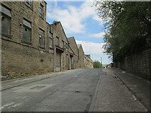 SE0641 : Pitt Street - viewed from near Low Mill Lane by Betty Longbottom