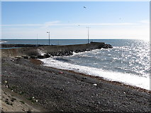 J3113 : Harbour breakwaters at Kilkeel by Eric Jones