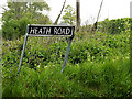 TM3992 : Heath Road sign by Adrian Cable