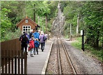 SH5946 : Nantmor request stop, Welsh Highland Railway by Flying Stag