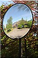 SO8832 : Tewkesbury Borough Council Offices in a mirror by Philip Halling