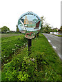 TM4693 : Wheatacre Burgh St.Peter Village sign by Adrian Cable