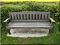 TM3384 : St.Peter South Elmham seat by Adrian Cable