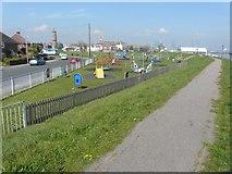 TM2632 : Looking west-northwest over Harwich Green children's playground by John Baker