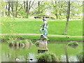 NZ3428 : Statue of Neptune in Hardwick Park by David Hawgood