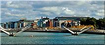 O1634 : Dublin-Sean O'Casey Bridge & Buildings along Sir John Rogerson's Quay by Suzanne Mischyshyn
