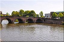 SO8454 : Worcester : River Severn & Worcester Bridge by Lewis Clarke