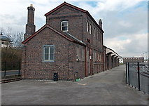 ST1167 : Buildings opposite Waterfront Platform, Barry Tourist Railway by Jaggery