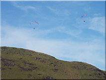 NS2472 : Paragliders near Dunrod Hill by Thomas Nugent