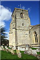 SP6202 : The tower of St Mary's Church and graveyard by Roger Templeman