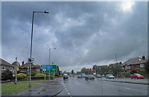 SJ8588 : Kingsway, Cheadle by Steve  Fareham