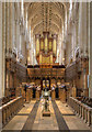 TG2308 : The choir stalls, Norwich Cathedral by David P Howard