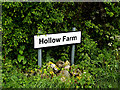 TM4893 : Hollow Farm sign by Adrian Cable
