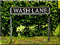 TM4793 : Wash Lane sign by Adrian Cable