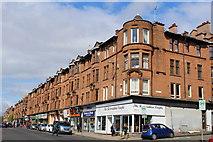NS5566 : Corner of Dumbarton Road & Apsley Street, Glasgow by Leslie Barrie
