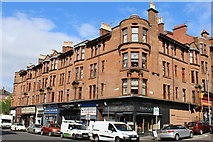 NS5566 : Corner of Dumbarton Road & Exeter Drive, Glasgow by Leslie Barrie