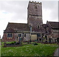 ST4888 : North side of St Mary's Church Caldicot by Jaggery
