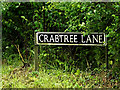 TM4493 : Crabtree Lane sign by Adrian Cable