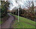 ST2788 : Canalside cycle route, Rogerstone, Newport by Jaggery