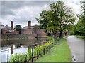 SJ7387 : Dunham Massey, The Moat by David Dixon