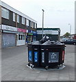 ST3487 : Recycling bins in the Fallowfield Drive shopping area, Liswerry, Newport by Jaggery