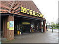 TM4291 : Entrance of Morrisons & Morrisons Supermarket Postbox by Adrian Cable
