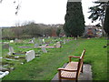 SK2129 : Tutbury churchyard 2-Staffs by Martin Richard Phelan