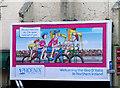 J5081 : Advertising hoarding, Bangor by Rossographer