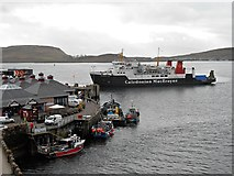 NM8529 : Four O'clock Arrival at Oban Ferry Terminal by David Dixon