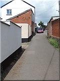 ST0107 : Cullompton: lane near New Street by Martin Bodman