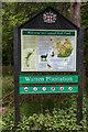 TL4300 : Information Board, Warren Plantation, near Copped Hall, Essex by Christine Matthews