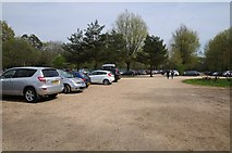 SU3226 : Car park at Mottisfont Abbey by Philip Halling