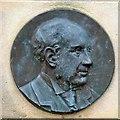SJ8993 : William Houlsdworth bronze portrait plaque by Gerald England
