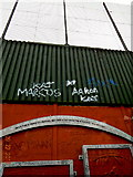 """J3274 : Belfast - """"Peace Line"""" Wall - Top Portion of Barrier by Suzanne Mischyshyn"""