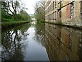 SE0324 : Reflections on the Rochdale Canal, Luddenden Foot by Christine Johnstone