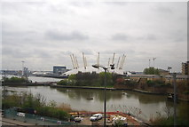 TQ3980 : East India Dock Basin and O2 Arena by N Chadwick