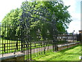 TQ2059 : The wrought iron gates to Durdans by Marathon