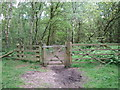SE7647 : Gate between Allerthorpe Common and Tank Plantation by Jonathan Thacker