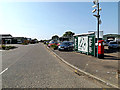 TM4488 : Industrial Estate Road & Benacre Road Postbox by Adrian Cable