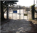 SN3906 : Sewage works entrance, Kidwelly by Jaggery