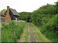 TQ7386 : Line past Holly Cottage, Wat Tyler Country Park by Roger Jones